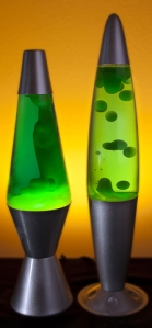 two lava lamps